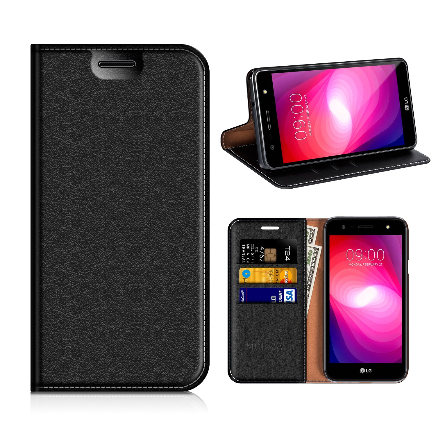 new styles c9c71 a1f7a Amazon.com: LG X Charge Wallet Case, Mobesv LG X Charge Leather Case ...