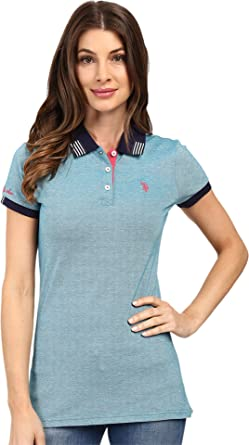 U.S. Polo Assn. Para Mujer 21-3927-ZH Camisa Polo - Azul - Small ...