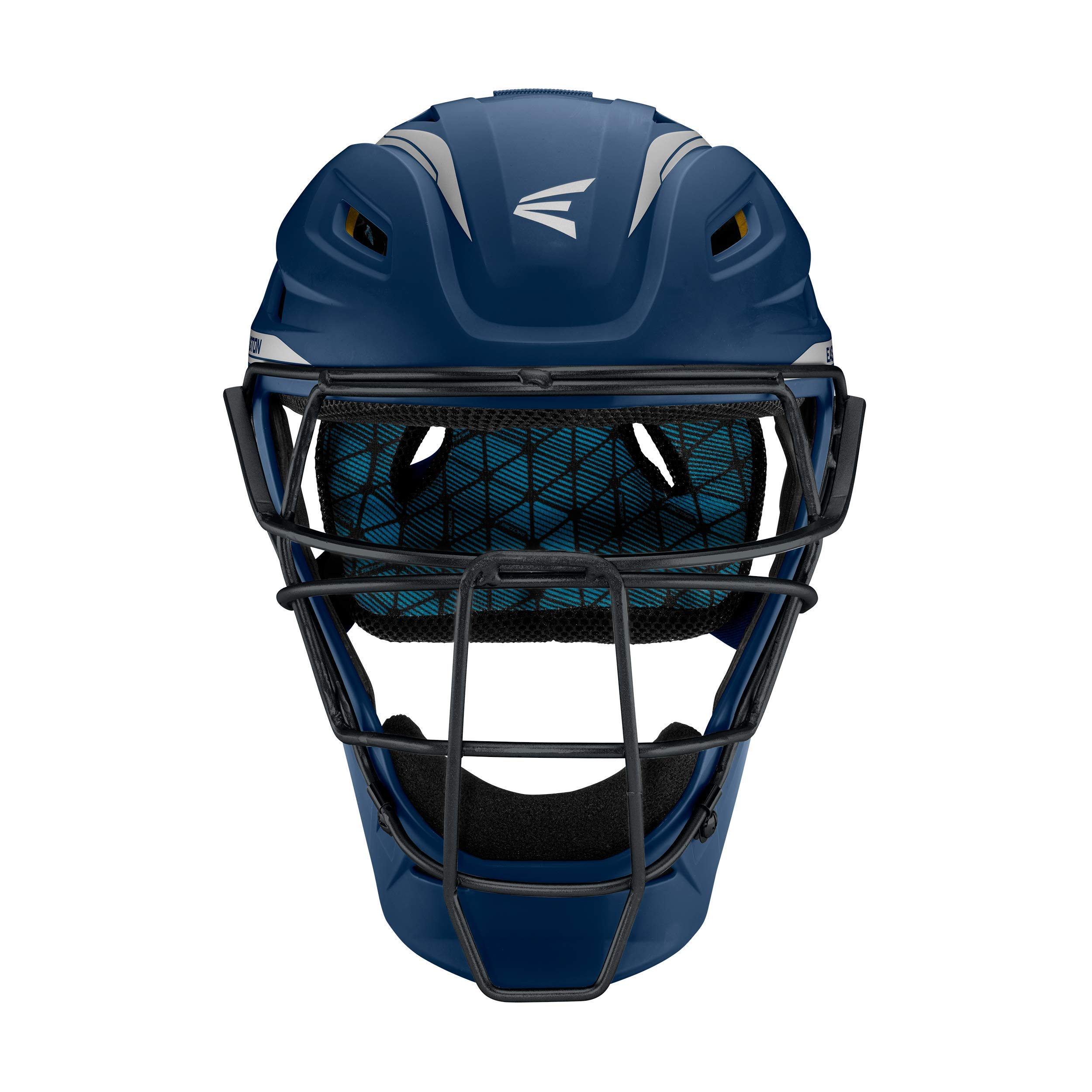 Easton Pro x Catchers Helmet Pro-X C-Helmet NY/Sl S, Navy/ Silver, Small by Easton
