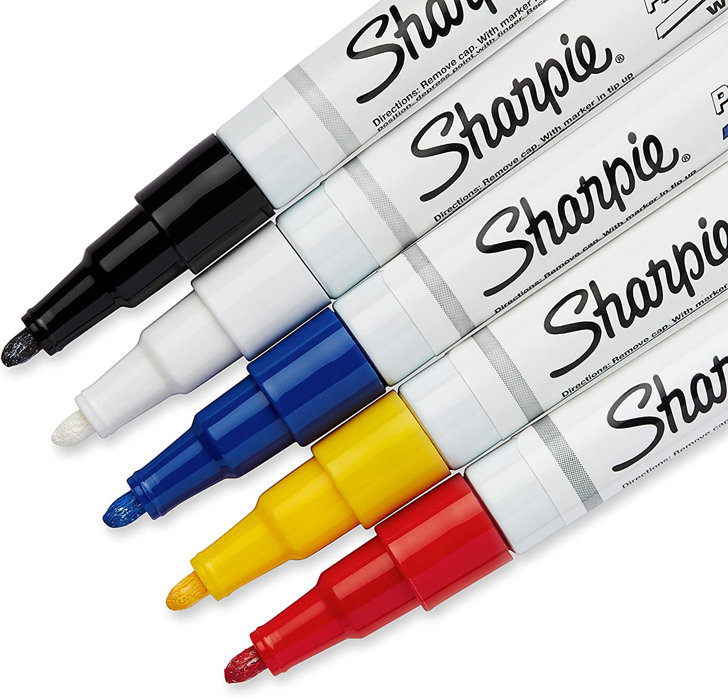 Sharpie 37371PP Oil-Based Paint Markers, Fine Point, Assorted Colors