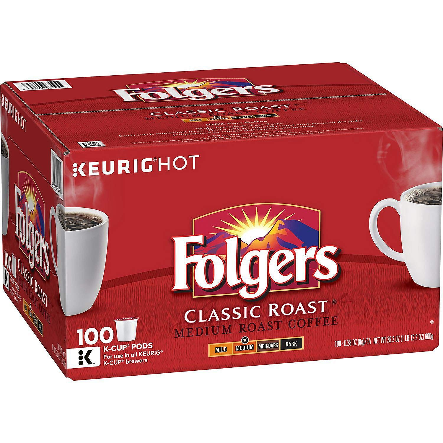 FOLGERS K CUPS Folgers Classic Roast Coffee 1 Pack (100 K-Cups)