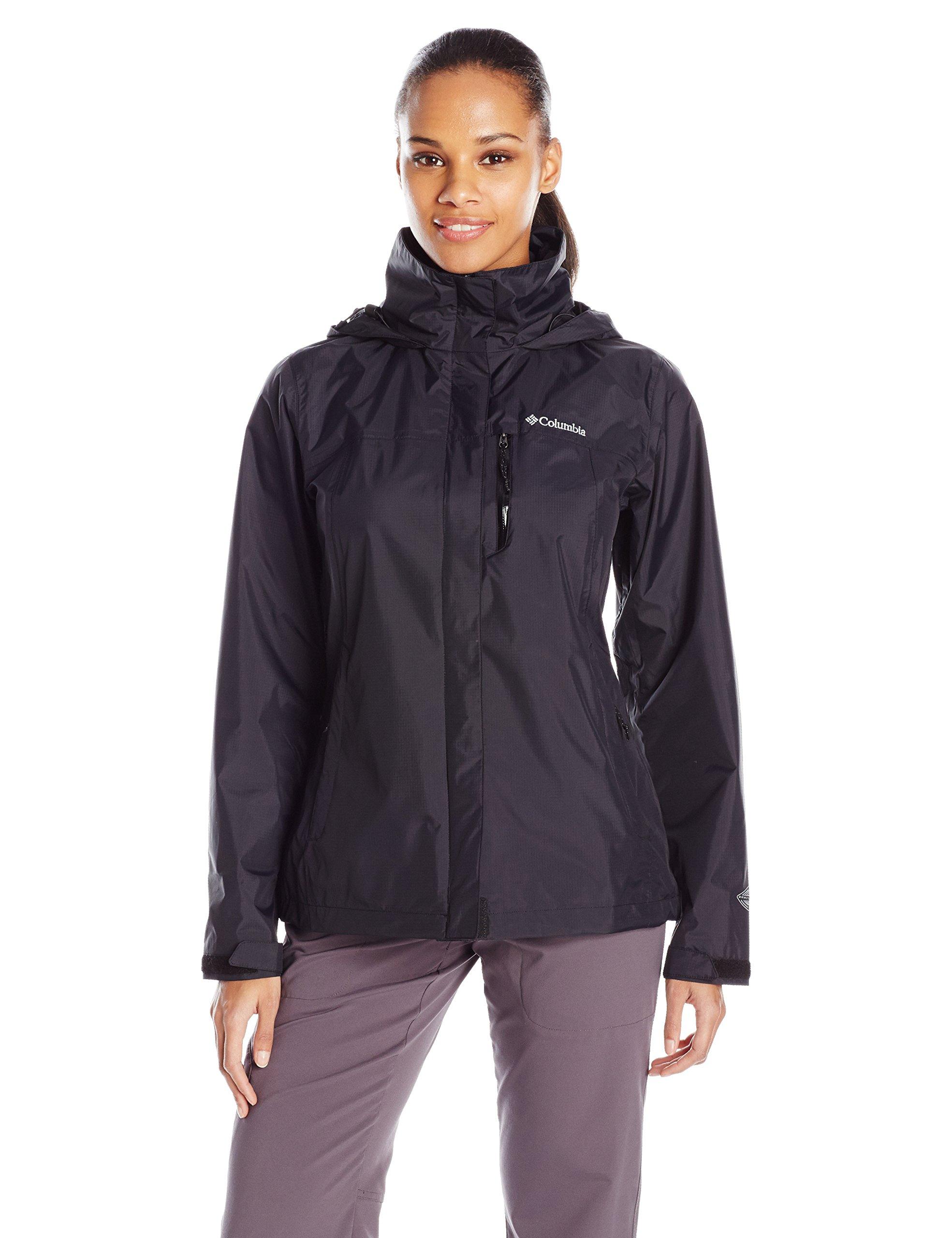 Columbia Women's Pouration Waterproof Rain Jacket, Medium, Black by Columbia (Image #1)
