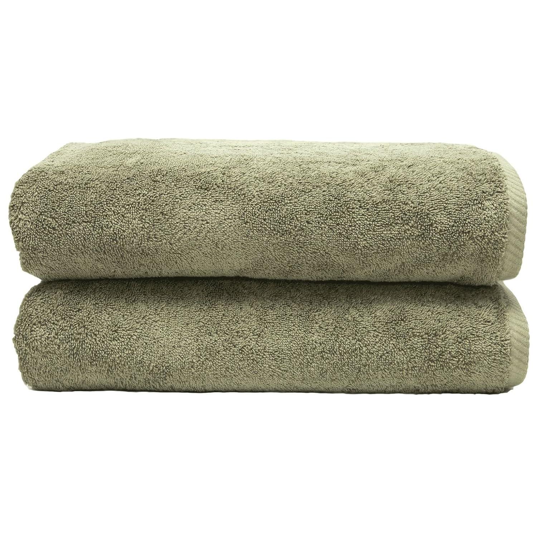 Linum Home Textiles Soft Twist Premium Authentic Soft 100% Turkish Cotton Luxury Hotel Collection Bath Towel, Set of 2, Aqua Blue ST40-2BT