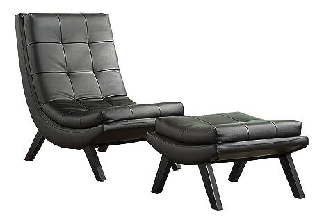 Amazon.com: Tustin Lounge silla y otomana, Metal, Negro ...