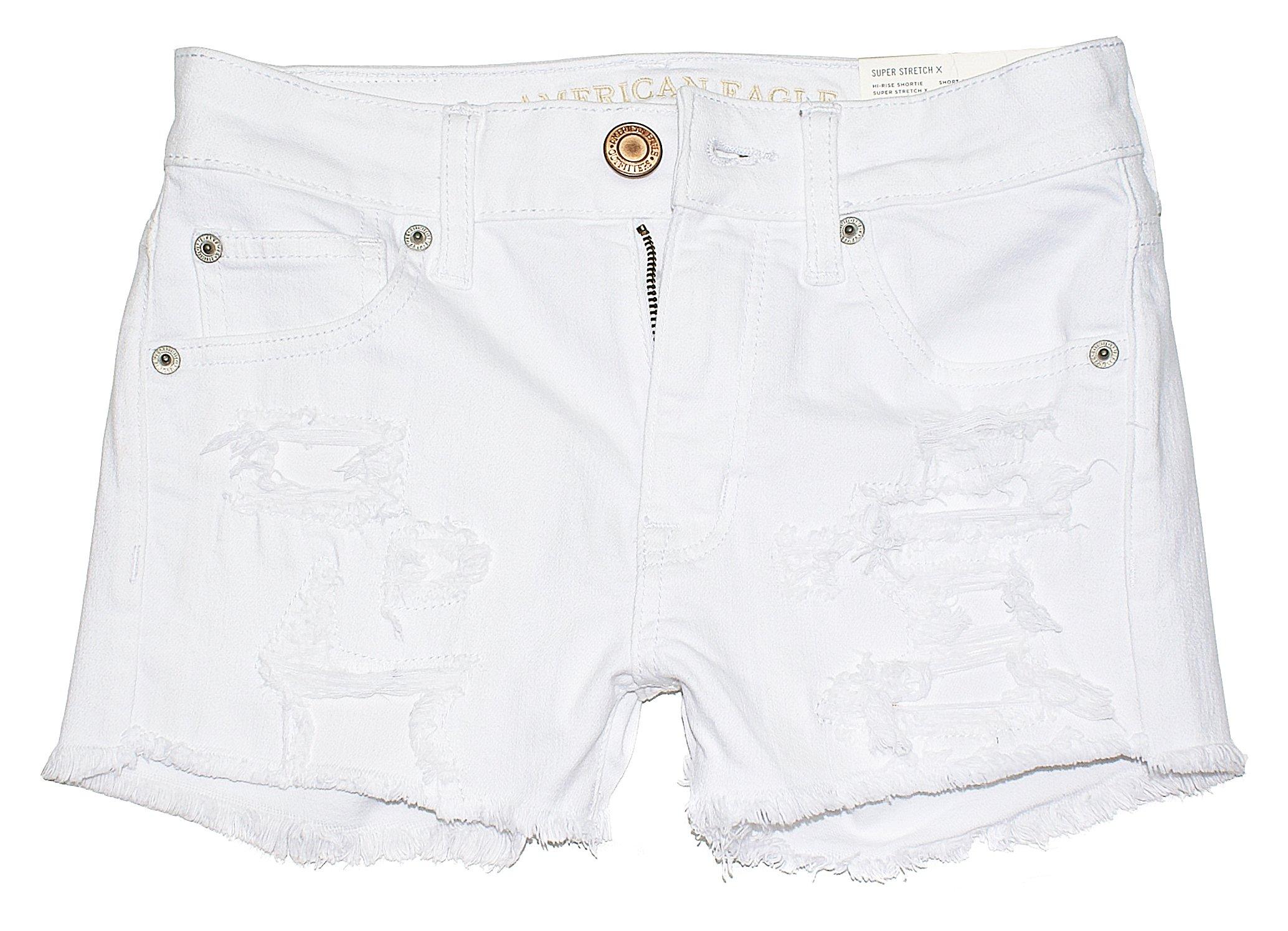 American Eagle Women's Hi-Rise Shortie Shorts W-23 (4, 4980)