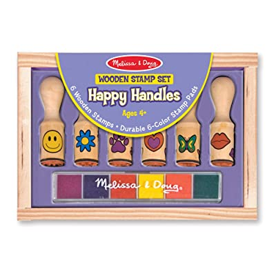 Melissa & Doug Happy Handle Stamp Set: Melissa & Doug: Toys & Games