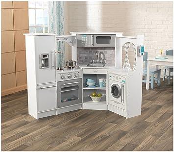 Amazon Com Kidkraft Ultimate Corner Play Kitchen Set White