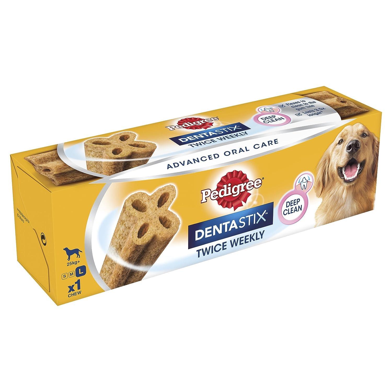PEDIGREE Dentastix Twice Weekly Large Dog Dental Chew, 120 g