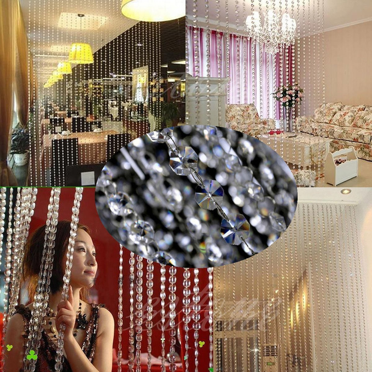 Fantasien girlande kristall diamant acryl perlen stränge hochzeit ...