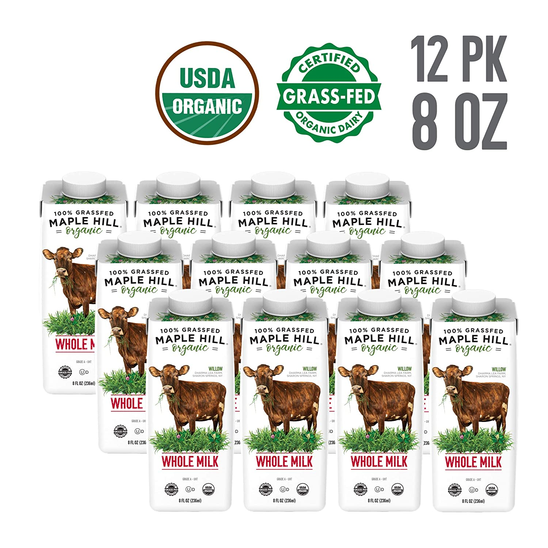 Free Amazon Promo Code 2020 for Maple Hill Shelf Stable Whole White Milk