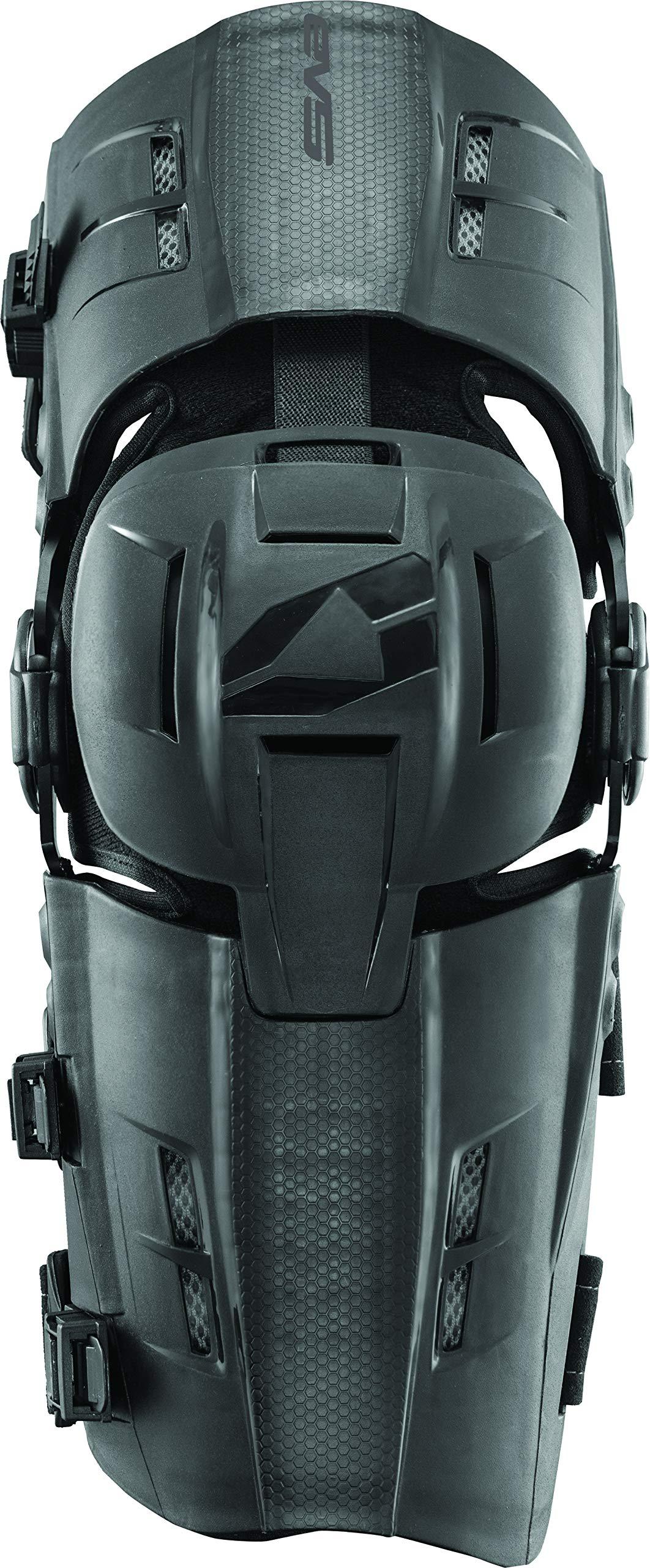 EVS Sports Men's Knee Brace (RS9 Pair) (Black, Large), 2 Pack