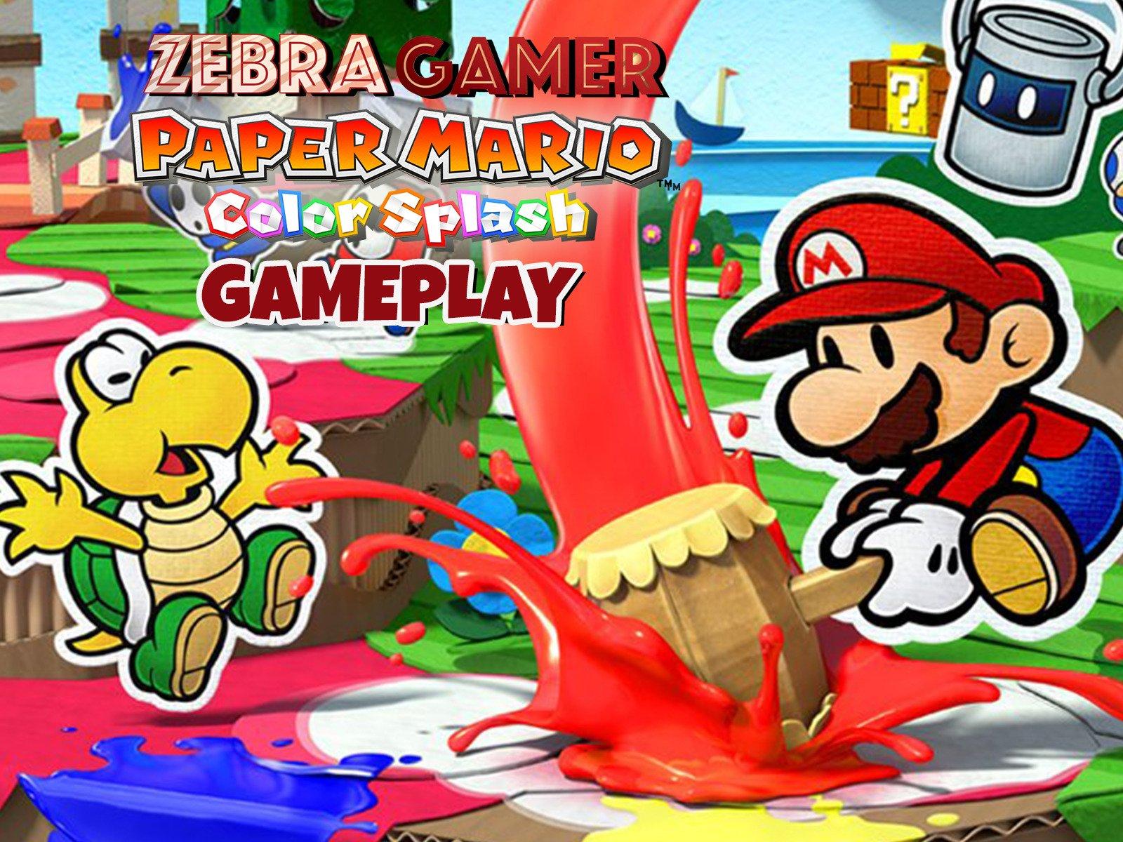 Amazon.com: Paper Mario Color Splash Gameplay - Zebra Gamer ...
