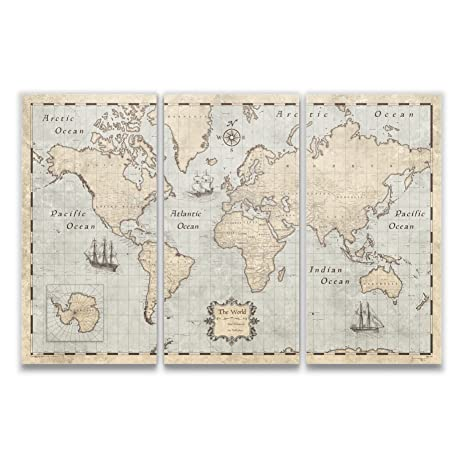 Amazon world map with pins by conquest maps rustic vintage world map with pins by conquest maps rustic vintage style push pin travel map cork gumiabroncs Image collections