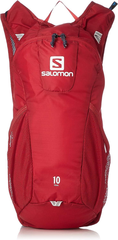 Salomon Mochila para running y senderismo 10L, trail 10, rojo y ...