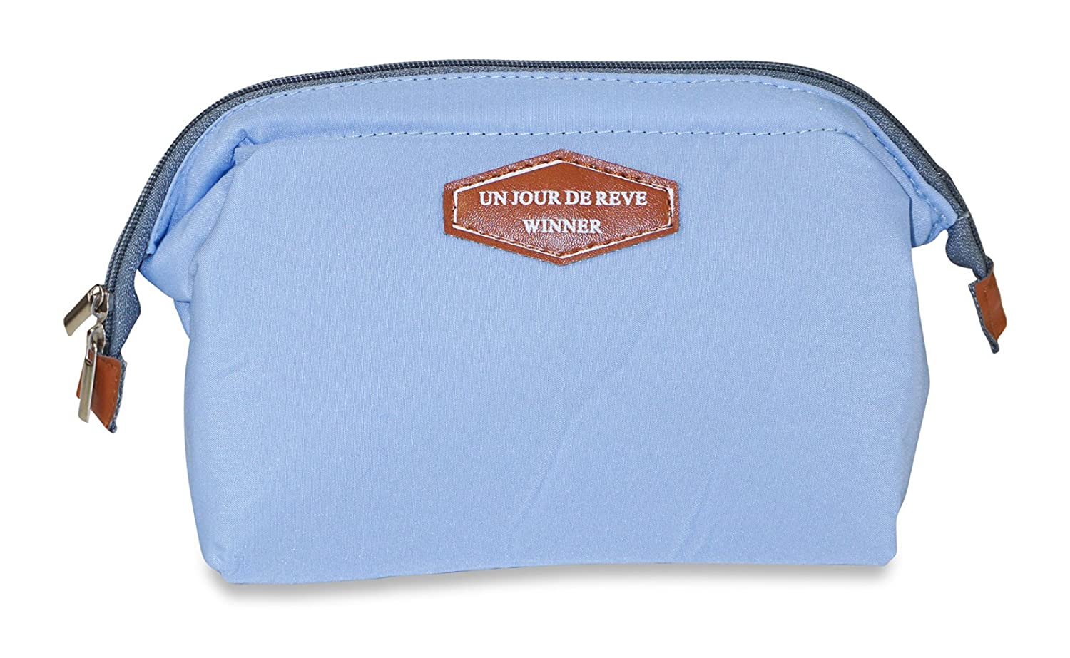 springwind Toiletry Travel Make Up Cosmetic Bagポーチクラッチハンドバッグ手ごろ One-Size ブルー  ライトブルー B00X7DCQ0O