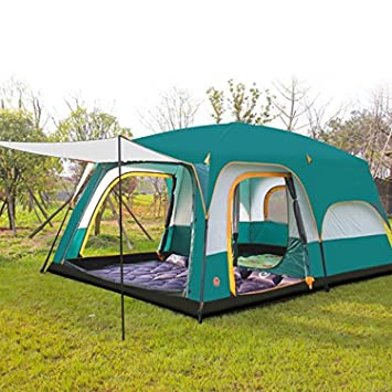 CAMEL 8 Persons Tent Triple Camping Three Rooms Family Tents Well Ventilated Waterproof