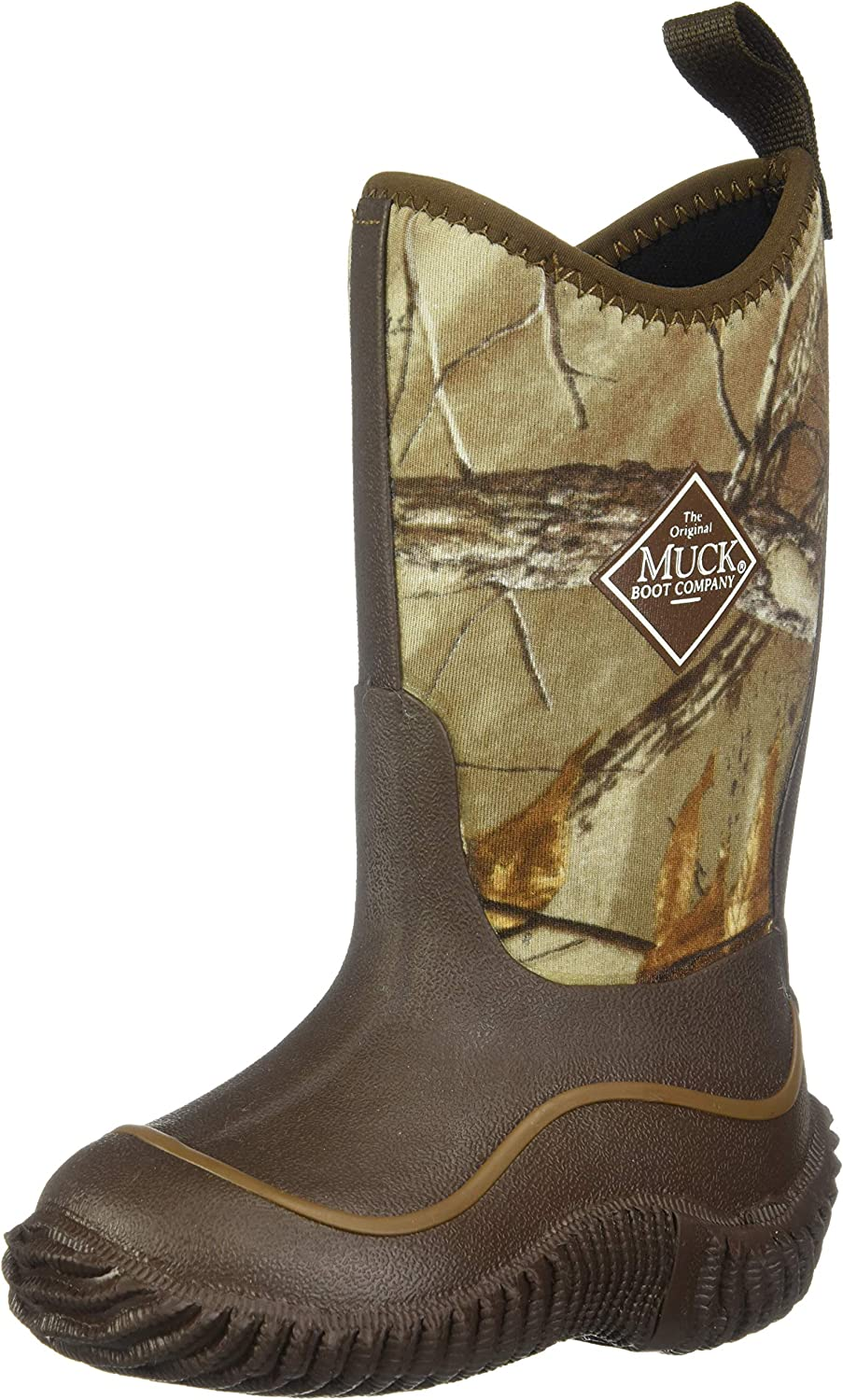 | Muck Hale Multi-Season Kids' Rubber Boots, 7 M US Big Kid, Brown with Realtree XTRA Print | Snow Boots