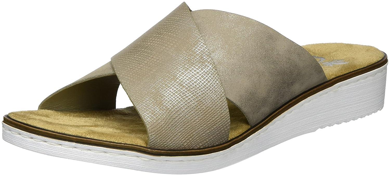 Rieker 63660, Mules para Mujer 40 EU|Beige (Fango-silver/Altgold / 65)