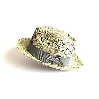 0d03c56ac7f3bb Dasmarca Mens Summer Straw Fedora Wide Brim Hat at Amazon Men's ...