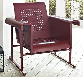 crosley veranda single glider chair coral red - Glider Chairs