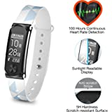 Q-Band Q-68HR Accurate Health & Fitness Tracker Watch, 100 Hours Heart Rate Monitor, Bluetooth Activity Tracker, Sunlight Readable Scratch-Resistant Big Screen, Pedometer Band