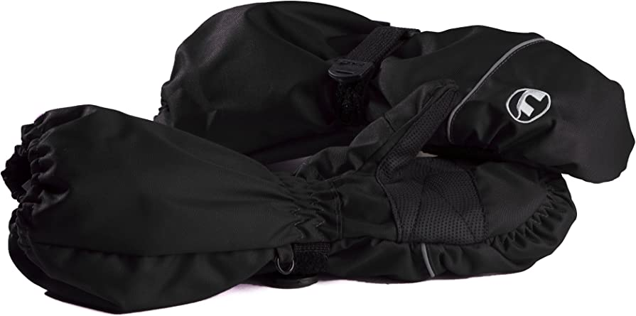 49011 Ultrasport Kinder Fausthandschuh Extension mit extra langer Stulpe Schwarz 4-6 Jahre