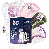 Eco Lily® 21 Herbruikbare make-up remover pads Wasbare katoenen bamboe pads voor gezicht en oog Make-up verwijderen met…