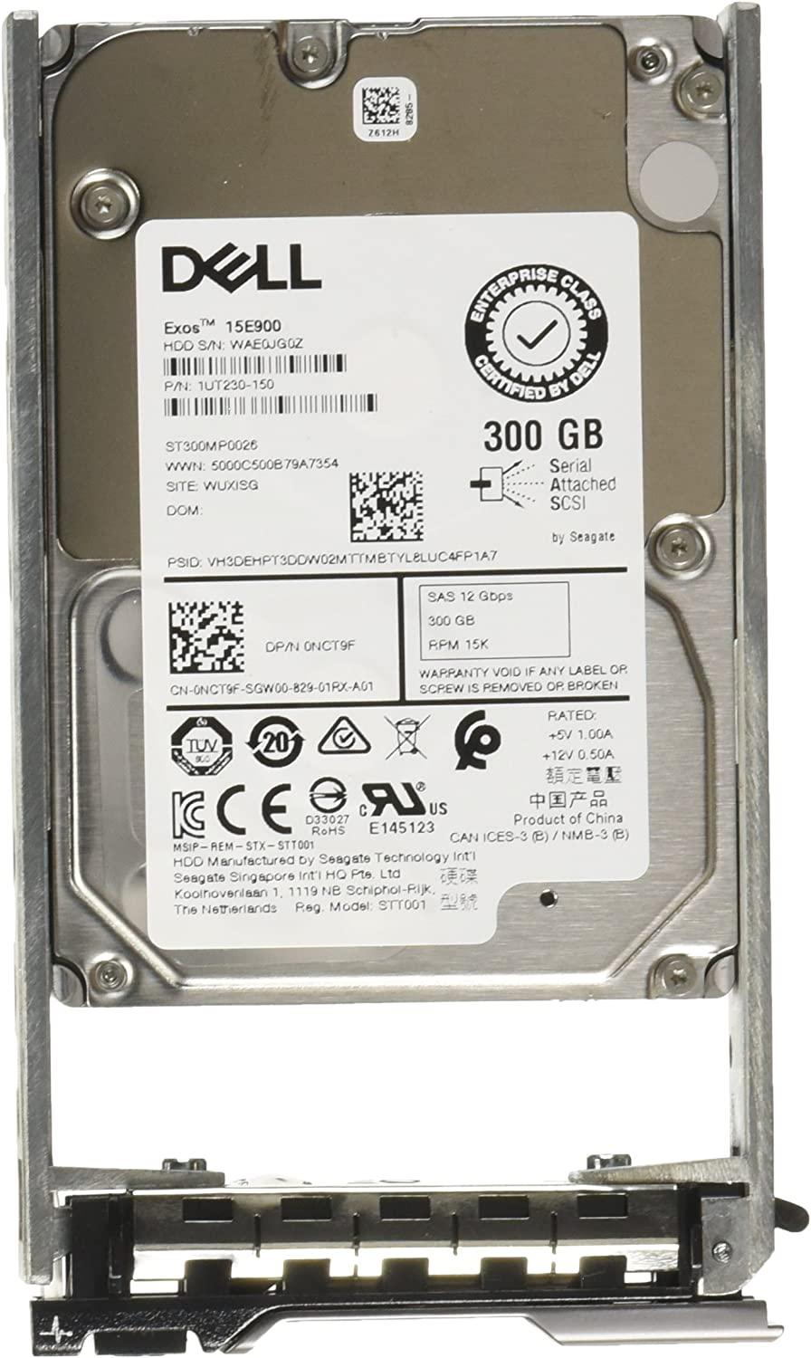 "Dell Original | 091L870 | 400-AJRO | 300GB 15K RPM SAS 12Gb/s 2.5"" inch Hot-plug 