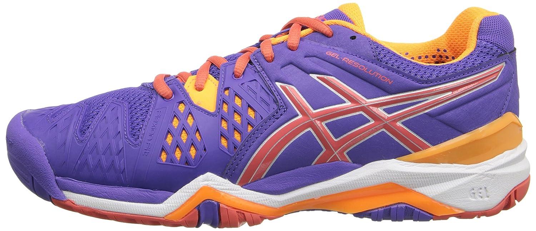 ASICS Gel Resolution 6 WIDE Women's Tennis Shoe B00KI5VNR6 White/Silver - WIDE version B00KI5VNR6 Shoe 11 B(M) US|Lavender/Hot Coral/Nectarine d3e0b5