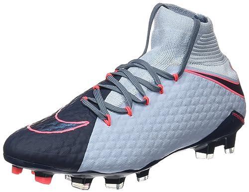 big sale 69261 3dd9f Nike Hypervenom Phatal III DF FG, Botas de fútbol para Hombre, Azul  Navy/Black/Light Blue/Armory, 44 EU: Amazon.es: Zapatos y complementos