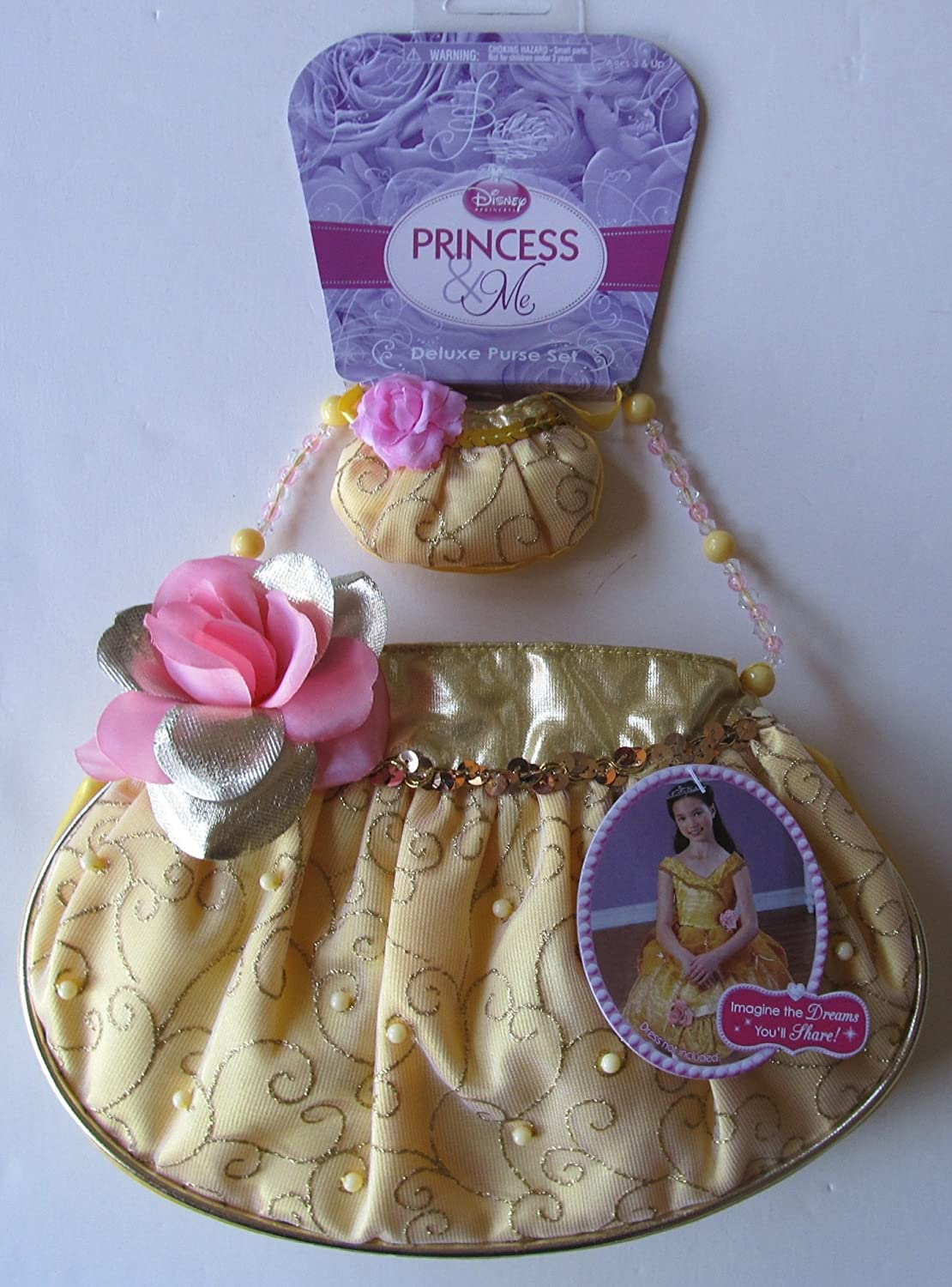 de32db492cc1 Amazon.com: Disney Princess and Me Deluxe Belle Child Size Purse and ...