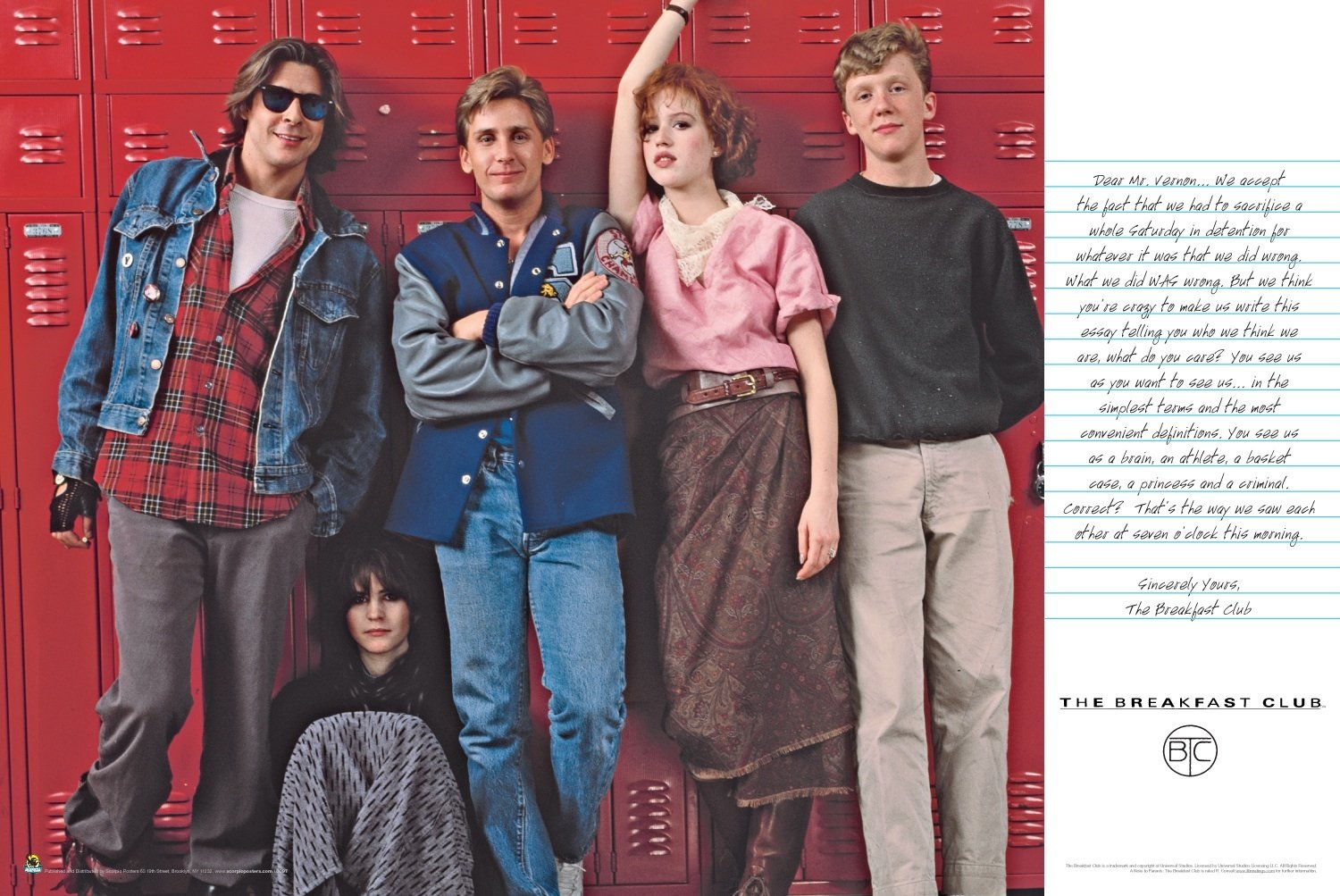 com scorpio the breakfast club lockers poster print  com scorpio the breakfast club lockers poster print posters prints