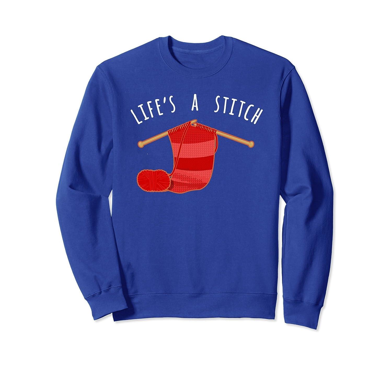 Fun Knitting Sweatshirt, Life Stitch For Knitter Apparel-Samdetee