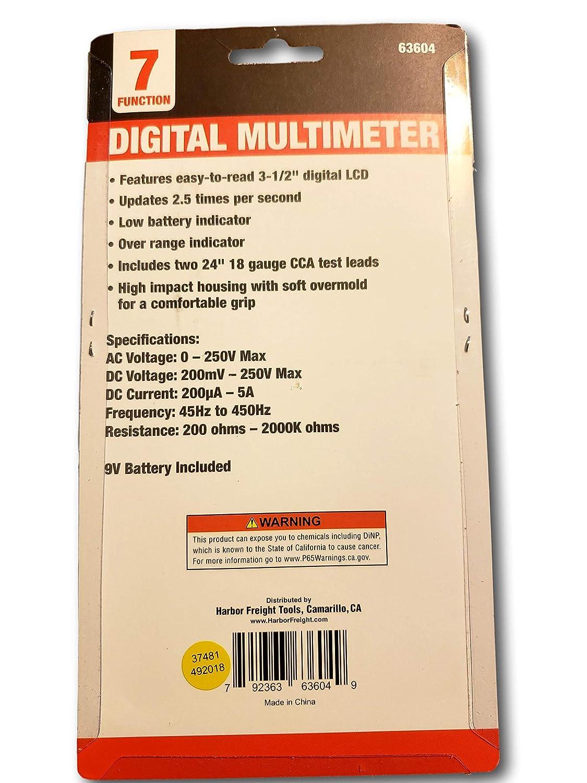 Cen-Tech 7-Function Digital Multimeter