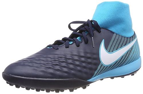 Magistax Onda II DF TF, Botas de Fútbol para Hombre, Azul (Obsidian/Azul Gamma/Azul Glacial/Blanco 414), 47 EU Nike