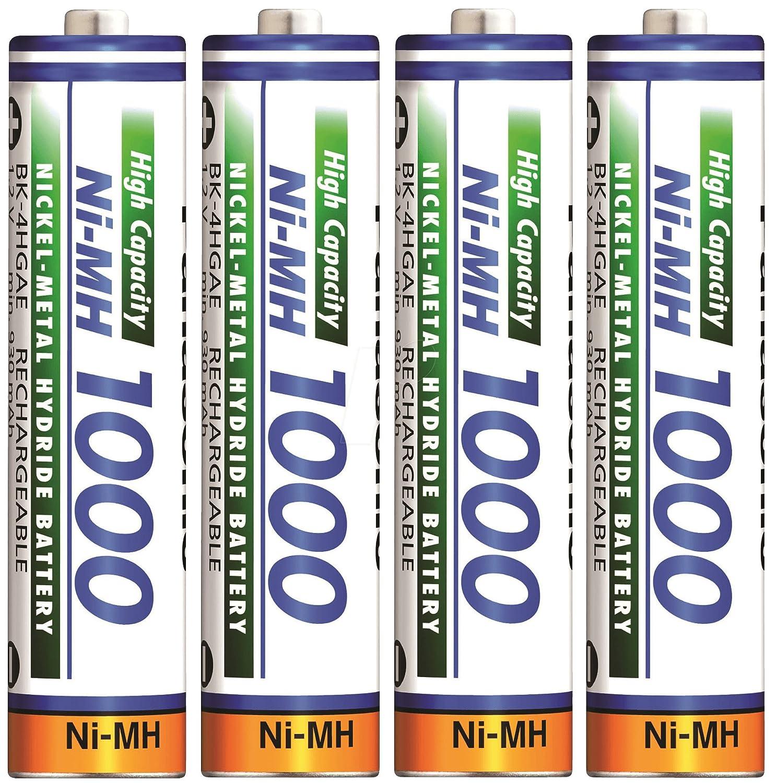 4x AAA Panasonic 930mAh Akku Rechargable Battery für Geräte mit hohem Verbrauch