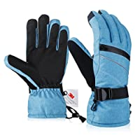 Ski Gloves, Fazitrip Windproof Waterproof Winter Gloves with Sensitive Touchscreen Function and Zipper Pocket, 3M Thinsulate Insulation Idea for Skiing, Snowboarding and Cycling