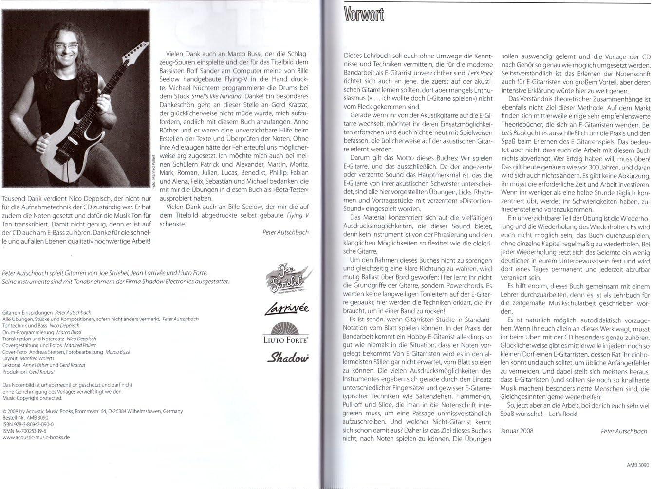 Let s Rock para guitarra eléctrica/Tab – Peter autsch Bachs Nueva ...
