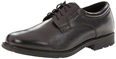 Rockport Men's Essential Details Waterproof Plain Toe Oxford Black 6.5 W ...