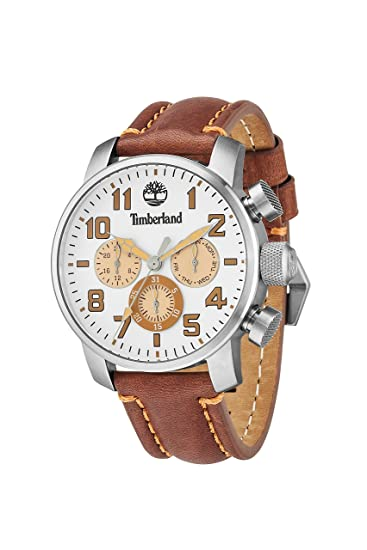 Timberland 14439JS-07 Mens Mascoma Brown Leather Strap Watch | Amazon.com