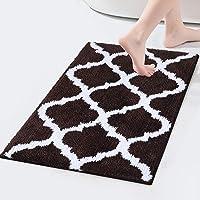 Olanly Luxury Bathroom Rugs Microfiber Bath Shower Mat, Machine Wash and Dry, Non-Slip Absorbent Shaggy Carpet Bath Mat…