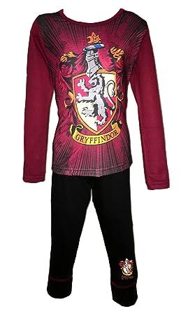 Character Clothing Girls and Boys Harry Potter Gryffindor Hogwarts  Slytherin Magic Pyjamas PJS Age 5 6-11 12  Amazon.co.uk  Clothing 2d16aad13