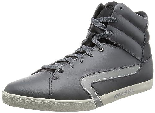 competitive price f6158 f7b82 DIESEL - Sneaker - Herren - Hohe graue Leder-Sneaker Klubb ...