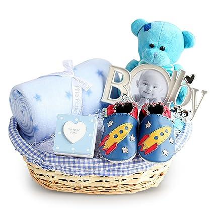 Cesta de regalo para bebé, cesta para recién nacido, ideas de baby ...