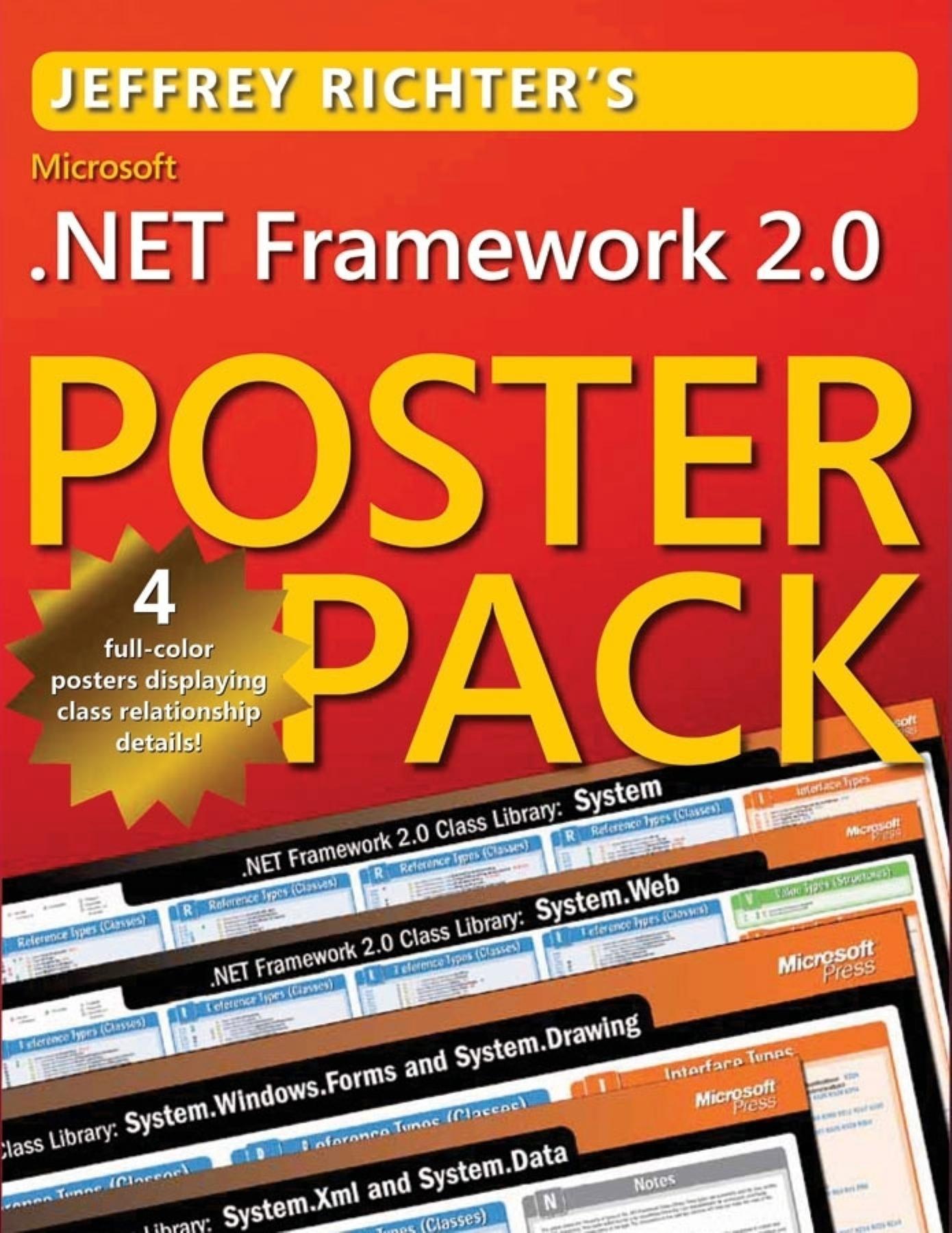 Microsoft® .NET Framework 220.20 Poster Pack  Richter, Jeffrey ...