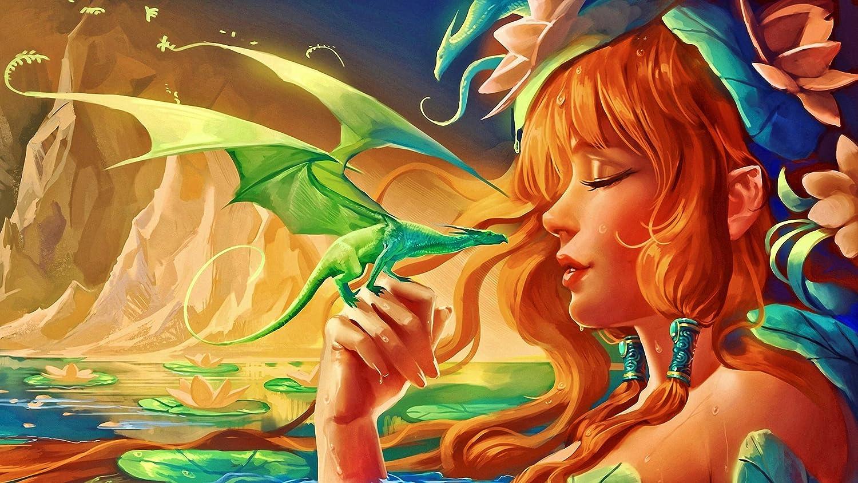 keletop 1000pcs Rompecabezas de Madera_Fantasy Fairy Wallpaper_Juego de Rompecabezas para Adultos y niños Juguetes educativos Conjunto Nuevo_50x75cm