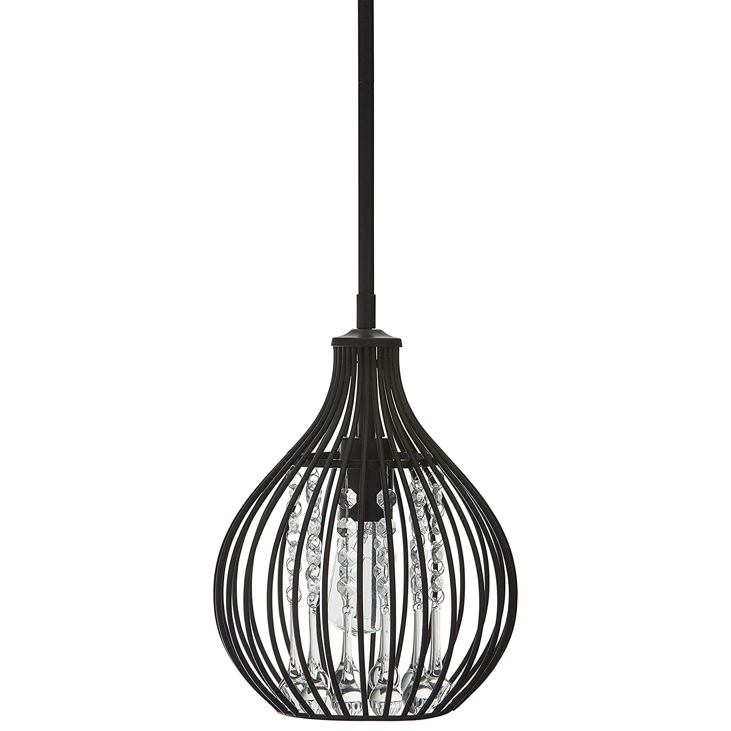 """Stone & Beam French Country Pendant, 15.5""""H, With Bulb, Rubbed Antique Bronze"""