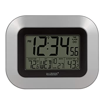 La Crosse Technology WS-8115U-S At-mica reloj de pared digital con