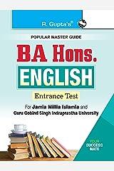 BA Hons. English Entrance Exam Guide for JMI & GGSIPU Kindle Edition