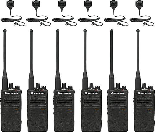 Motorola RDU4100 Business Two-Way Radios with HKLN4606 Speaker Mics 6-Pack RDU4100 Bundle,BLACK
